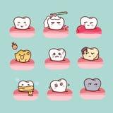 Kreskówka zdrowy i gnijący ząb royalty ilustracja