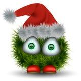 kreskówka zielony Santa Claus royalty ilustracja