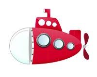 Kreskówki łódź podwodna Zdjęcia Stock