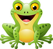 Kreskówki śliczna żaba zdjęcie stock