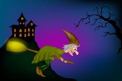 Kreskówki Śmieszna czarownica royalty ilustracja