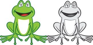 Kreskówki żaba z kolorowym i białym Kolorystyki książka dla dzieci Ilustracji