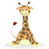Kreskówki żyrafa odizolowywająca na białym tle ilustracja wektor