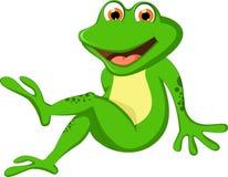 Kreskówki żaba dla ciebie projektuje Obraz Stock