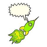 kreskówki astronautyczna rakieta z mowa bąblem Obraz Royalty Free