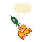 kreskówki astronautyczna rakieta z mowa bąblem Zdjęcie Stock