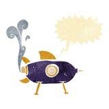 kreskówki astronautyczna rakieta z mowa bąblem Zdjęcia Royalty Free
