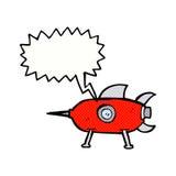 kreskówki astronautyczna rakieta z mowa bąblem Obraz Stock