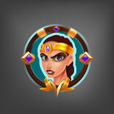 Kreskówki avatar charakter Amazon dla fantazi gry Zdjęcia Stock
