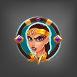Kreskówki avatar charakter Amazon dla fantazi gry ilustracja wektor