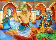 Kreskówki bajka - ilustracja dla dzieci Obrazy Royalty Free