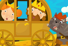 Kreskówki bajki scena Zdjęcia Royalty Free