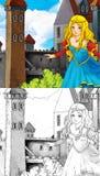 Kreskówki bajki scena - kolorystyki strona Obraz Stock