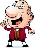 Kreskówki Ben Franklin pomysł Zdjęcia Stock