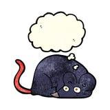 kreskówki biała mysz z myśl bąblem Obraz Royalty Free