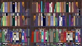 Kreskówki biblioteka Pakująca z książkami ilustracji
