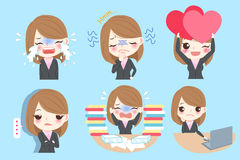 Kreskówki Biznesowa kobieta royalty ilustracja