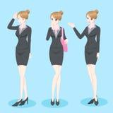 Kreskówki Biznesowa kobieta ilustracja wektor