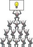kreskówki biznesowa praca zespołowa Zdjęcie Stock