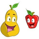 Kreskówki bonkreta i jabłko Zdjęcie Stock