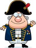 Kreskówki Brytyjski Admiral falowanie royalty ilustracja