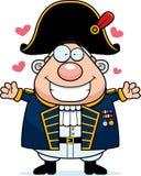 Kreskówki Brytyjski Admiral uściśnięcie royalty ilustracja