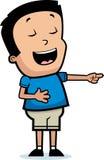 Kreskówki chłopiec Śmiać się royalty ilustracja