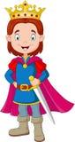 Kreskówki chłopiec jest ubranym książe kostium royalty ilustracja