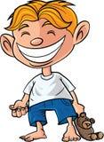 Kreskówki chłopiec z misiem Obraz Stock