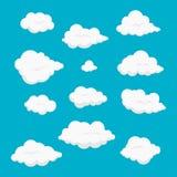 Kreskówki chmura ustawiająca wektorowa ilustracja ilustracja wektor