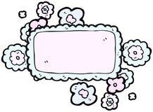 kreskówki chmury imienia etykietka Obrazy Royalty Free