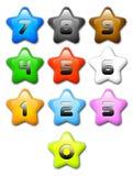 kreskówki colours liczb gwiazda Fotografia Royalty Free