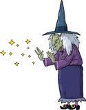 Kreskówki czarownica Obrazy Royalty Free