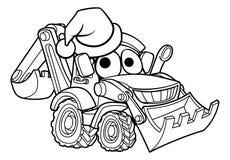 Kreskówki czerparki Bożenarodzeniowy buldożer Zdjęcia Royalty Free