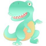 kreskówki dinosaura odosobniony biel Zdjęcia Royalty Free