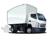 Kreskówki dostawa lub ładunek ciężarówka Zdjęcia Royalty Free