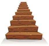 Kreskówki drewna schodki ilustracji