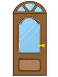 kreskówki drzwi dom royalty ilustracja