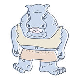 Kreskówki duży zwierzę Obraz Royalty Free