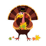 Kreskówki Dziękczynienie Turcja Obrazy Stock