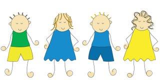 kreskówki dzieci ilustracja wektor