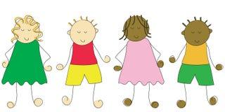 kreskówki dzieci royalty ilustracja