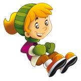 Kreskówki dziecka doskakiwanie lub obsiadanie aktywność - odosobniona - ruszający się - ilustracji