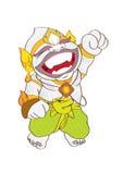 Kreskówki dziecka małpa Zdjęcia Stock