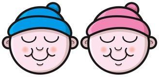 Kreskówki dziecka twarze Zdjęcia Royalty Free