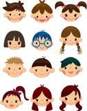 kreskówki dziecka twarzy ikona ilustracji