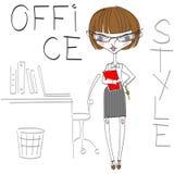 Kreskówki dziewczyna ilustracji