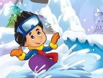 Kreskówki dziewczyna robi styl wolny obruszeniu ilustracji