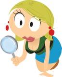 kreskówki dziewczyny gmeranie Fotografia Royalty Free