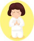 Kreskówki dziewczyny modlenie royalty ilustracja